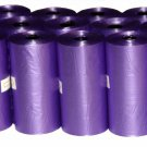 3000 DOG PET WASTE POOP BAGS 150 PURPLE REFILL ROLLS WITH CORE