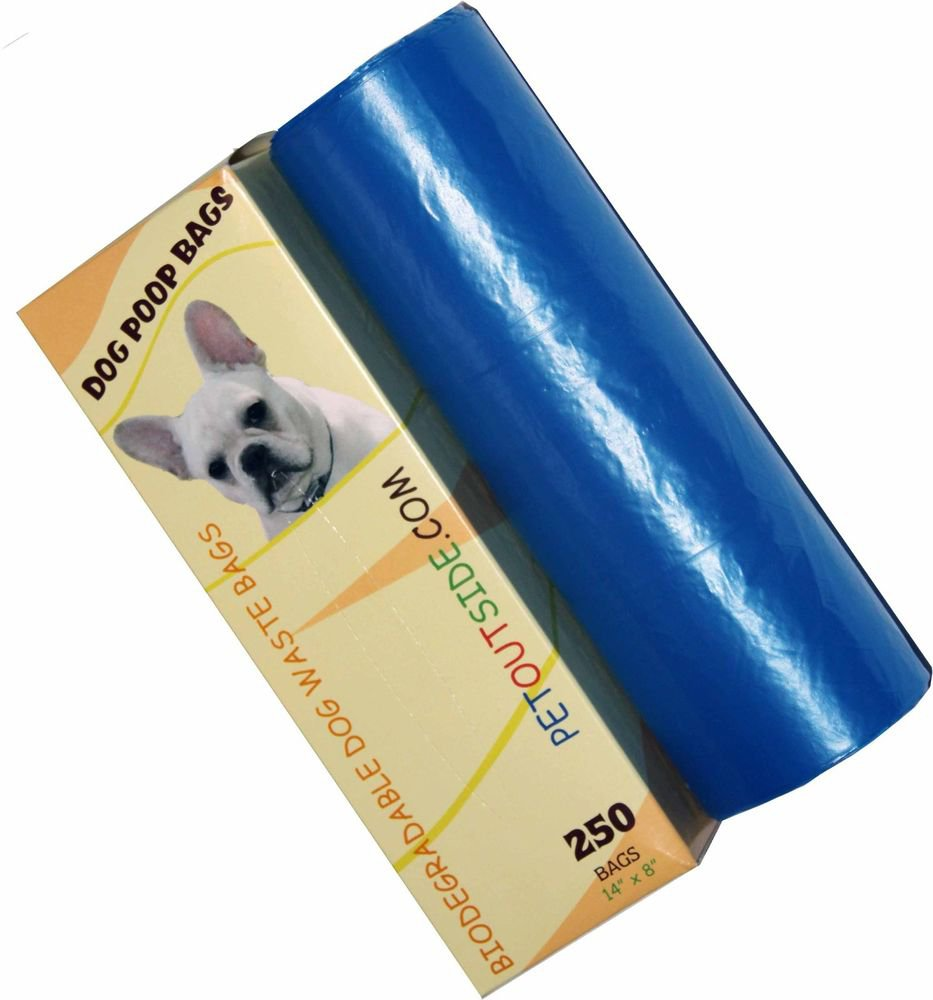 1500 Dog Pet Waste Poop Bags 6 Rolls Strong .75 mil 19 mcrns easy separate blue