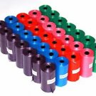 2000 Color DOG PET WASTE POOP BAGS ROLLS Core 2 FREE DISPENSERS Petoutside USA