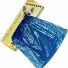 500 Dog Pet Waste Poop Bags 2 Rolls Strong .75 mil 19 mcs easy separate blue