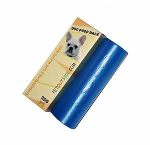 2000 Dog Pet Waste Poop Bags 8 Rolls Strong .75 mil 19 mcn easy separate blue
