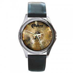 Bosphorus Cymbals Gold Series Power Crash Cymbal Pictures Round Metal Watch