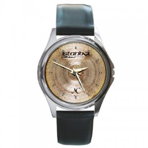 Istanbul MC Jazz Series Cymbal Pictures Round Metal Watch