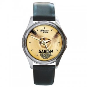 Sabian AA 16inch Bright Crash Cymbal Pictures Round Metal Watch