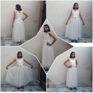 Ball Gown with Floor Length in White Color