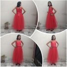 Full Length Ball Gown for Girls in Red Color