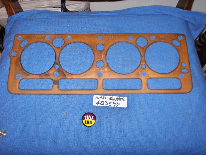 VOLVO B4B vintage CYLINDER HEAD GASKET 4 CYL   COPPER, HARD TO GET 403598