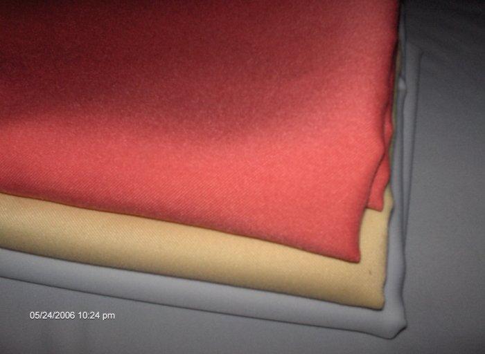 satin band  tablecloth  visa fabric  top quality tablecloth 54 x 54 dark peach