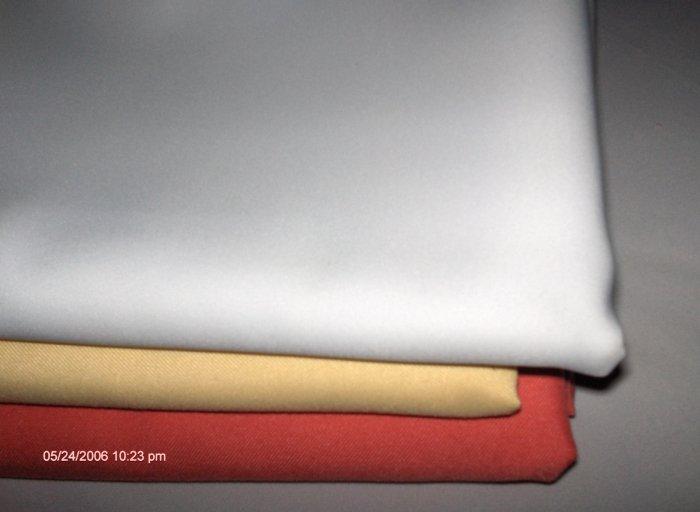 I DOZEN WHITE TABLECLOTH  RESTAURANT LINEN  44 X 62