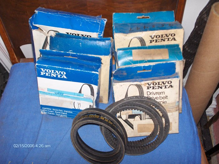 VOLVO PENTA BELT # 958322 ELECTRICAL SYSTEM MD 5A 5B