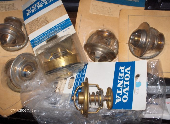 volvo penta thermostat kit # 875788 new