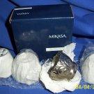 mikasa fancy napkin ring  4pc set  new boxed