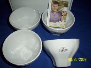tyler florence for mikasa lattee bowl 4pc   new boxed