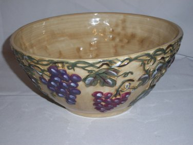 """NOBLE EXCELLENCE MERITAGE LARGE SERVING BOWL TUSCAN GRAPES 11 3/4"""" D X 5 1/2"""" H"""