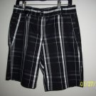 Quagmire Golf flat front Black plaid Short pant women