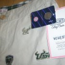 usf women beige shorts cassual short pants university of south florida