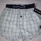 papi men`s boxer shorts 100 % cotton green white blue plaid boxer sleepware men
