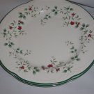 2 Pfaltzgraff  Winterberry Dinner Plates  holly berries good for side plates