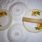 4 Vintage  Mikasa Cera Stone SUNSHINE  Saucers Japan D1354 oven to table