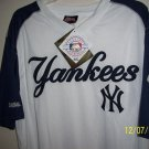 ny yankees  jersey  white blue XL MLB  stitches nwt
