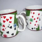 NEW 222 Fifth JUMBO COFFEE/TEA/SOUP MUG PLAYING CARDS Casino Chips