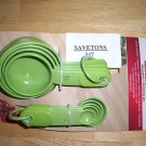 kitchenaid measuring spoons and cups  set green