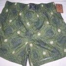 lucky brand boxer shorts 100 % cotton green Small