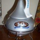 Hershey`s Kisses Chocolate Ceramic fondue Pot jar Dish stand 100 years