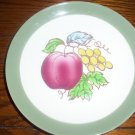 RARE Homer Laughlin Serenade Fruits Apples  grapes Berries Salad Plates OVEN USA