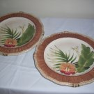 "2 Certified International Pamela Gladding Paradise Dinner Plates 11"" Excellent"