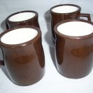 Continental Plastics 8002 Brown Mugs with Beige thick plastic mug Excellent RARE