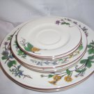 WOODHILL DINNER SALAD  SAUCER PLATES by CITATION FLORAL PATTERN EXCELLENT CONDTS