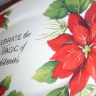 CELEBRATE THE MAGIC OF CHRISMTAS Oval Platter POINTSETTIAS Platter  Rare