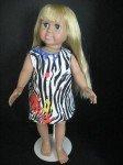 Zebra print sundress for American Girl