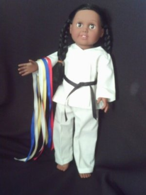 Martial arts outfit for American Girl
