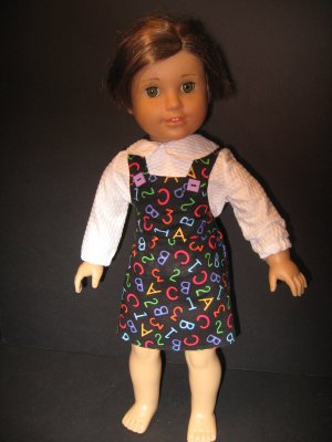 School/teacher uniform jumper for American Girl