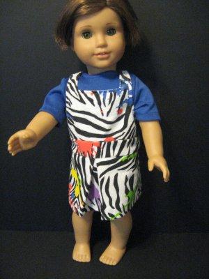 Zebra print jumper for American girl