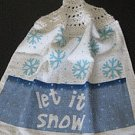 Let It Snow kitchen towel