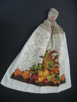 Fall harvest kitchen towel
