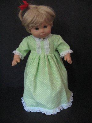 Bitty baby or twin girl nightgown