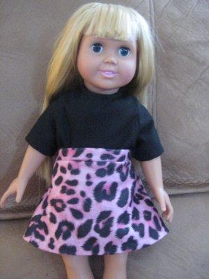 Pink leopard mini skirt