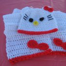 Child Hello Kitty hat and scarf