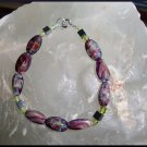 Hematite/Purple Swirl Glass