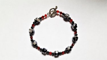 Hematite & Glass Bracelet
