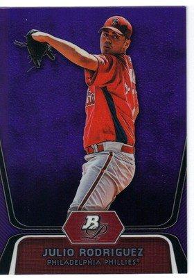 2012 Bowman Platinum Prospects Purple Refractors #BPP77 Julio Rodriguez