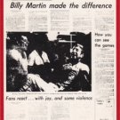 1981 Tigers Detroit News #107 Billy Martin Made/the Difference