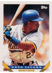 1993 Topps 153 Greg Vaughn