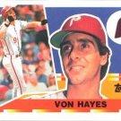 1990 Topps Big #69 Von Hayes
