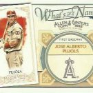 2012 Topps Allen and Ginter What's in a Name #WIN84 Jose Alberto Pujols
