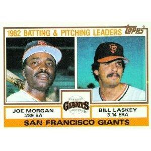 1983 Topps 171 Joe Morgan/Bill Laskey TL